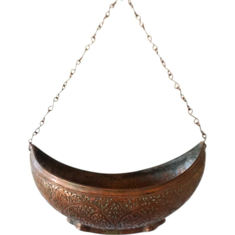 Kashmir Mughal Copper and Bronze Begging Bowl (Kashkul)