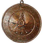 Tibetan Copper Buddha Plaque