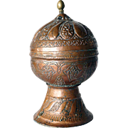 Indian Mughal Copper Incense Box