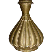 Indian Mughal Bronze Lotus Flower Form Vase