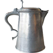 Swedish King Gustav IV Adolf Pewter Flagon