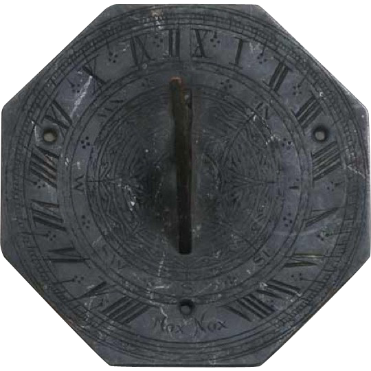 English Georgian Bronze Octagonal Sundial 18th/19th century