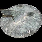 Small Welsh 19th century Bronze Garden Sundial