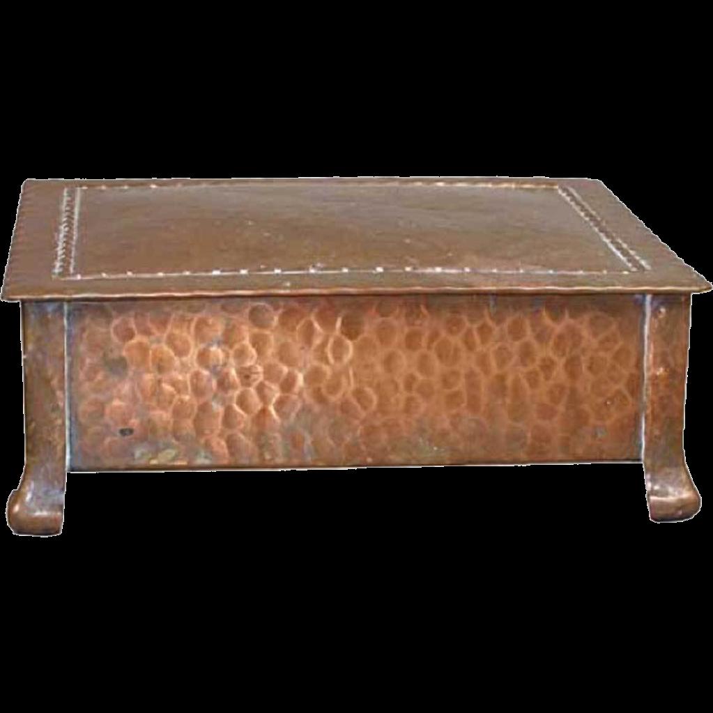 Swedish Dahlstroms Metallfabrik Jugendstil Hammered Copper Box
