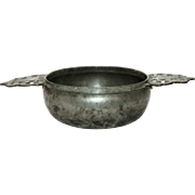English George III Pewter Porringer