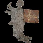 Danish Sheet Iron Silhouette of St. Michael Weather Vane