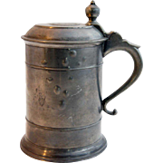 English George V Pewter Coin Top Tankard/Beer Stein