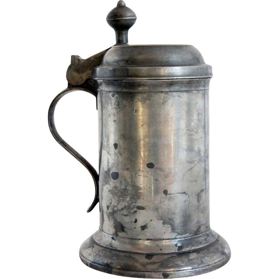 Danish Pewter Tankard with Lid