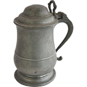 English Georgian Bristol Tulip Shaped Pewter Tankard