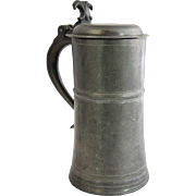 Vintage English Thomas E. Williams Pewter Lidded Ale Tankard
