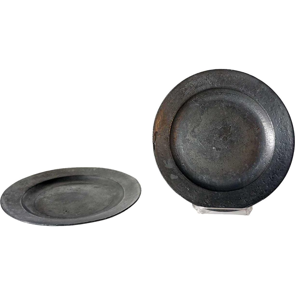Pair of English Georgian Thomas Page Pewter Plates