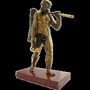 Early 19th century Italian Gilt Bronze Statue of Chronos
