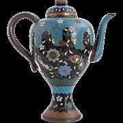 Japanese Cloisonne Enamel Miniature Teapot