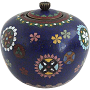 Japanese Cloisonne Enamel Miniature Ginger Jar
