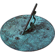 Large English Victorian SHADES Patinated Bronze Garden Sundial