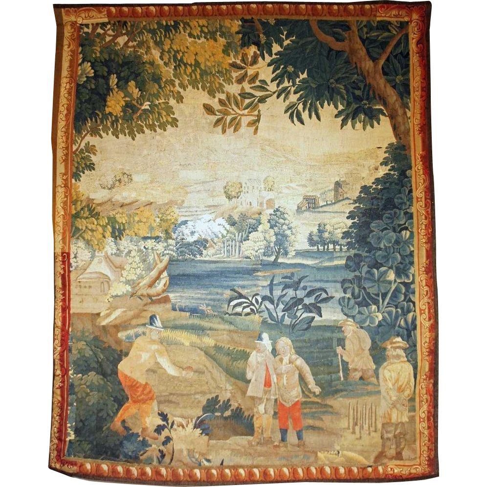 French/Belgian Louis XV Period Wool Hanging Tapestry