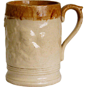 English Lambeth Salt-Glazed Stoneware Pottery Pint Ale Mug