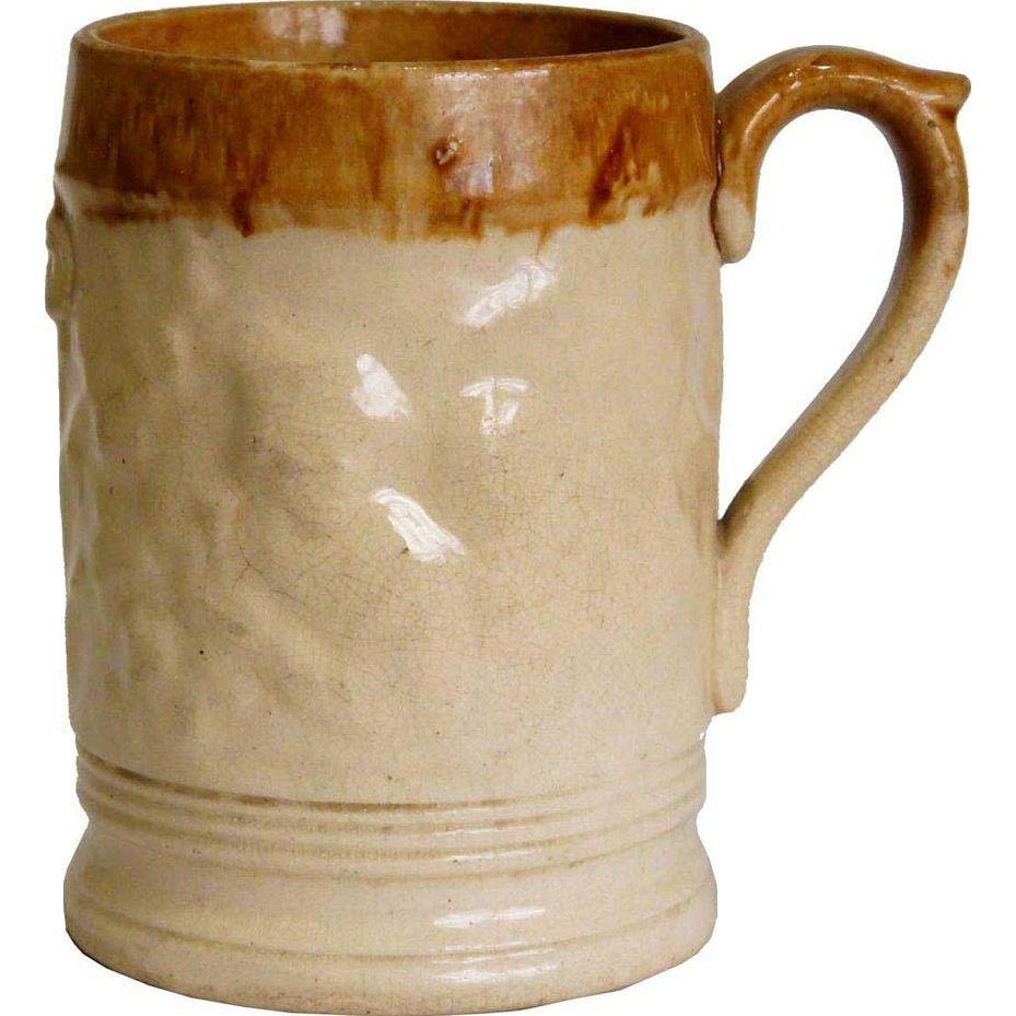 English Lambeth Salt-Glazed Stoneware Pottery Pint Ale Mug