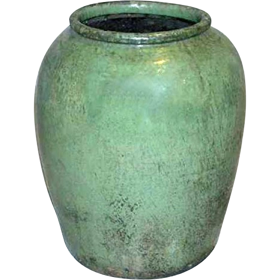 Antique Chinese Jiaxing Celadon Pottery Water Urn