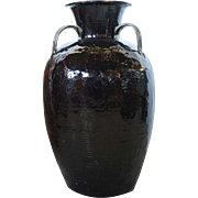Large Chinese Black Pottery Vessel