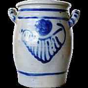 German Westerwald Salt Glazed Stoneware Pottery Crock 4 Litre Open Jar