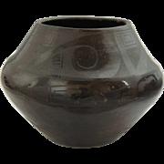 Native American TONITA MARTINEZ ROYBAL Blackware Pottery Olla