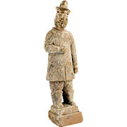 Chinese Ming Dynasty Pottery Attendant Tomb Figure