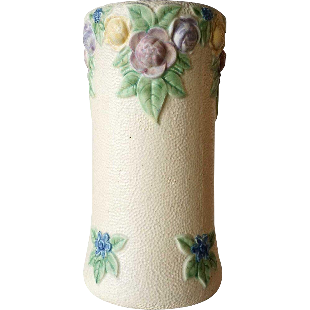 Large American Roseville Pottery Rozane 1917 Pattern Umbrella Stand