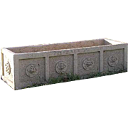 American Neoclassical Glazed Terracotta Garden Planter Box
