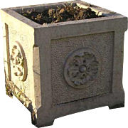 American Glazed Terracotta Square Neoclassic  Garden Planter Box