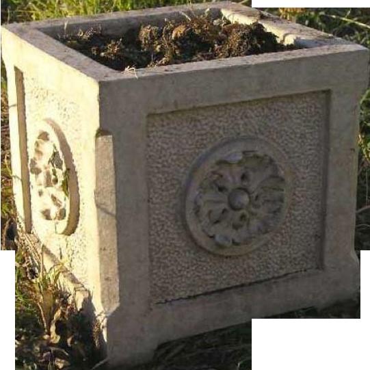 American Glazed Terracotta Square Neoclassic  Garden Planter Box