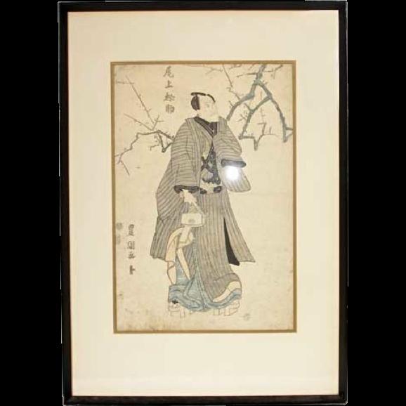 UTAGAWA TOYOKUNI I Japanese Woodblock Print, Kabuki Actor