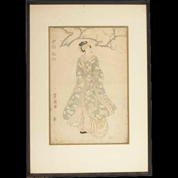 UTAGAWA TOYOKUNI I Japanese Woodblock Print, Kabuki Actor Original
