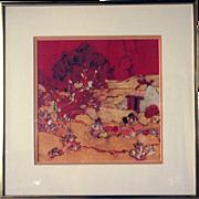 Vintage KATALIN EHLING Batik, Navajo Sunset