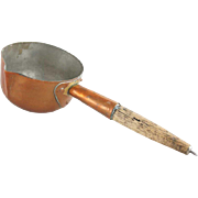 Copper Ladle with Oak Handle