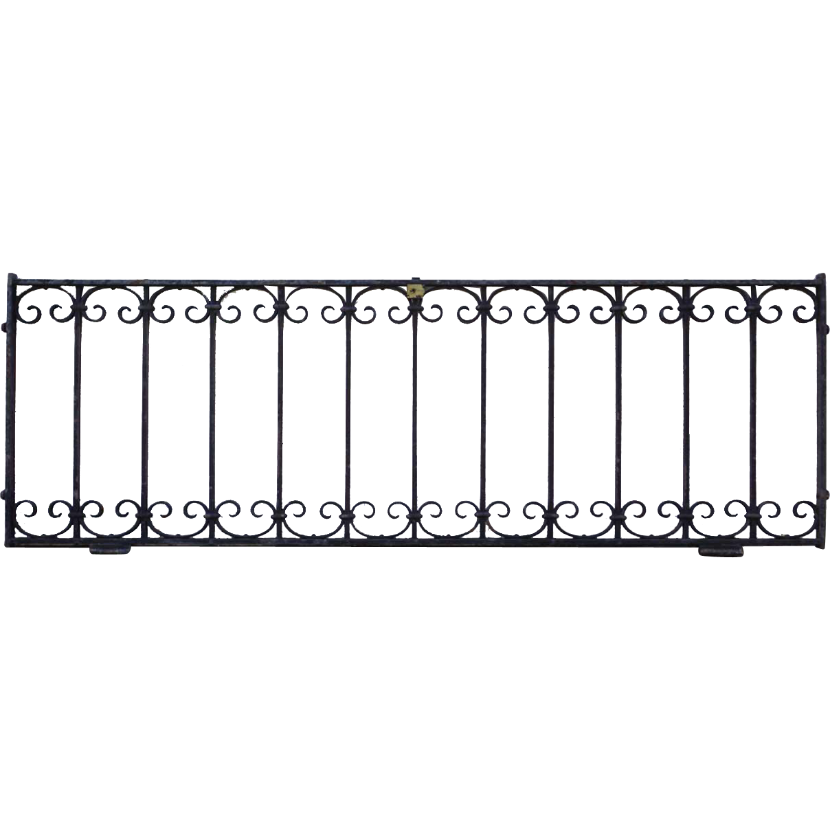 American Wrought Iron Hinged Window Grate