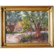 YOLANDA GURRIES Pastel on Paper, Summer Lane, California