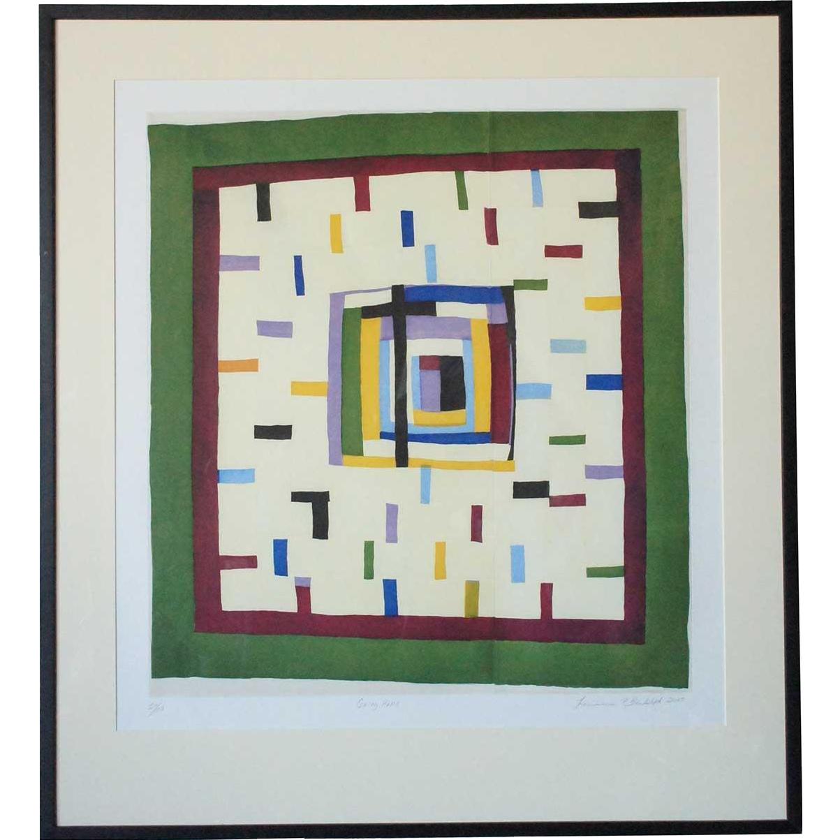 Louisiana P. Bendolph Color Aquatint, Going Home, 25/50