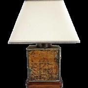 Large English Twinings Tea Tin as a Table Lamp