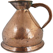 English Victorian Copper Two-Gallon Harvest Jug/Ale Measure
