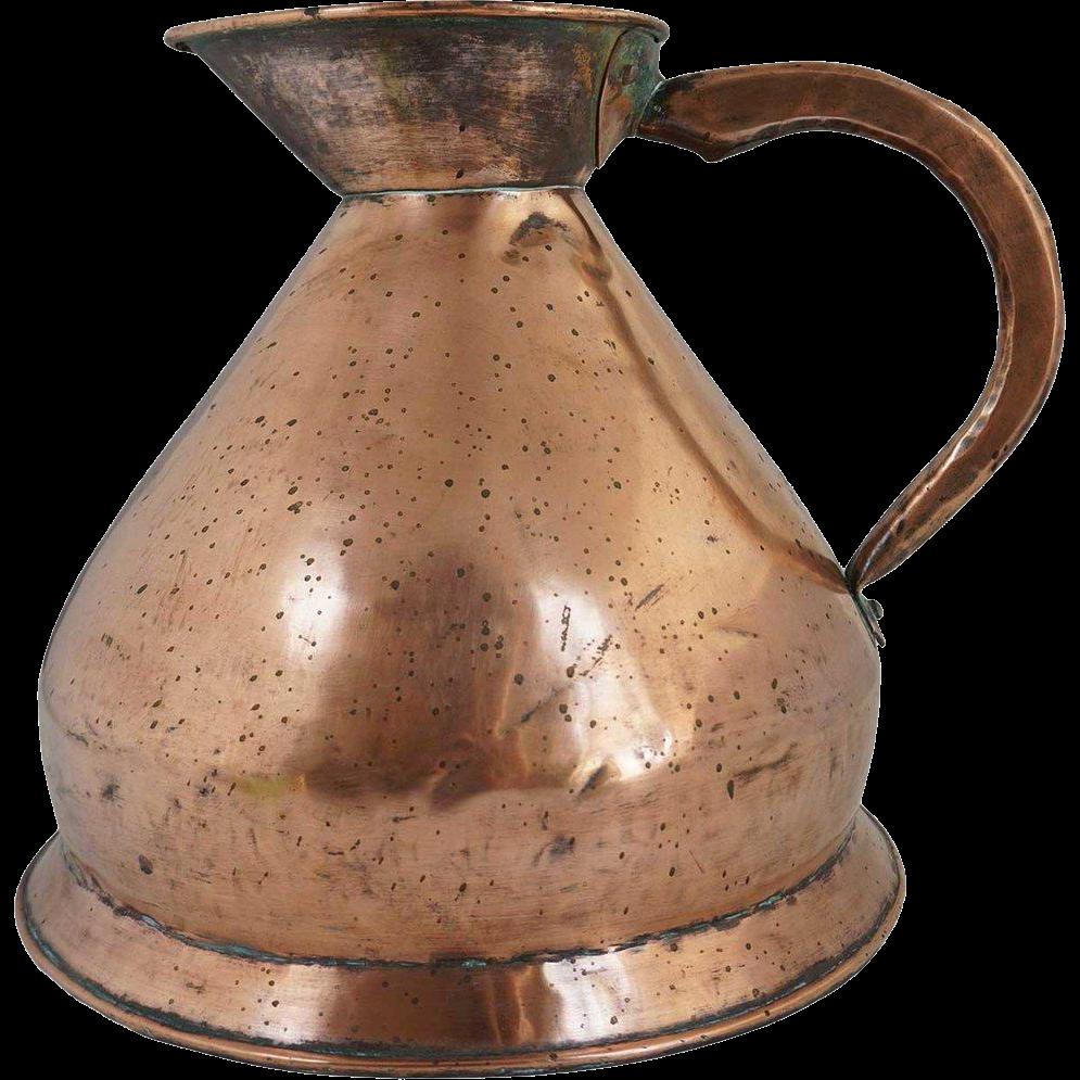 English Victorian Copper Two-Gallon Harvest Jug/Ale Measure