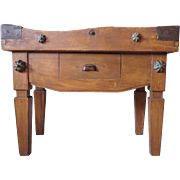 French Provincial Beechwood Butcher's Block Kitchen Work Table