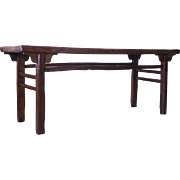 Chinese Ming Style Elm and Pine Console Table
