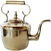 Large Dutch Brass Tea Kettle