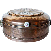German Copper Covered Round Bread Basket