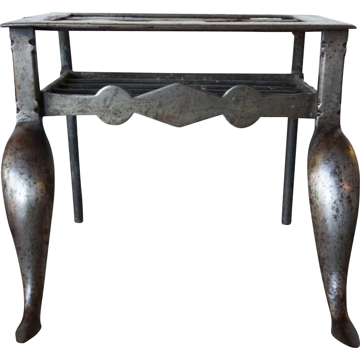 English Georgian Iron Hearth Trivet/ Fireplace Footman