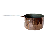 French Continental Copper Tin Lined Pot