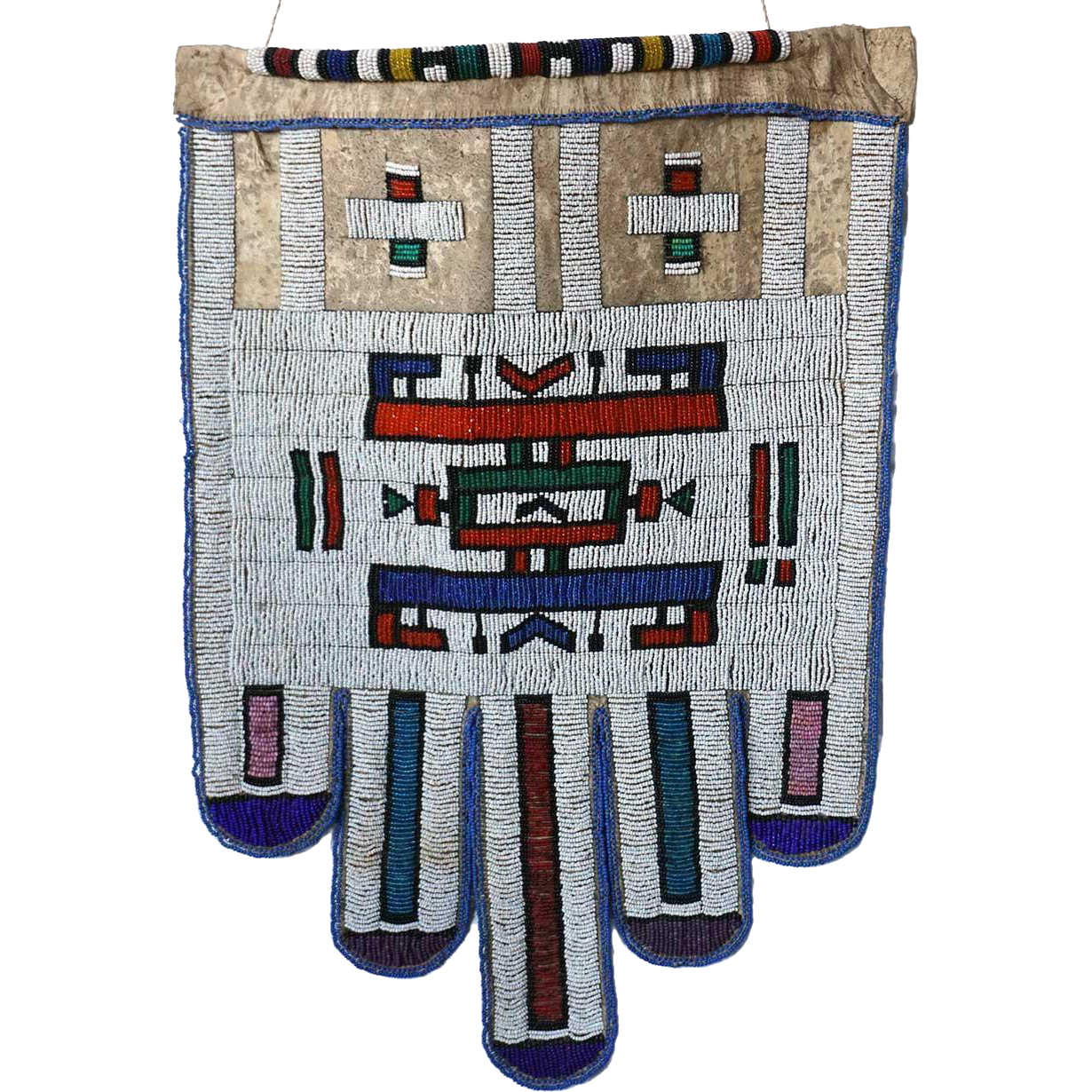 Vintage South African Ndebele Beaded Leather Bridal (Jocolo) Apron
