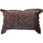 Large Turkish Flat Woven Bag Face now as a Pillow