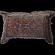 Large Turkish Flat Woven Bag Face now as a Pillow